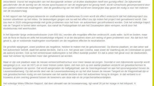 MER stationsproject Mechelen positief beoordeeld
