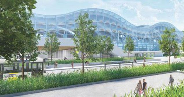 Toekomstbeelden: zicht op het busstation in de toekomst