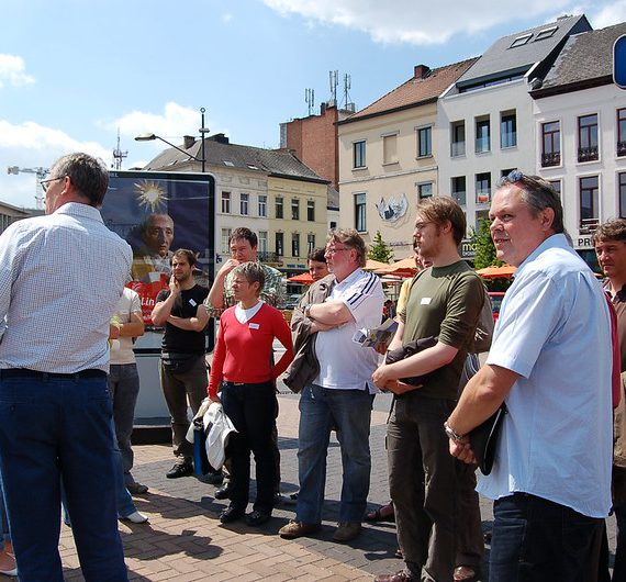 Flickr-album: Vlaamse Stichting voor Verkeerskunde (VSV) bezocht 18 mei het projectgebied