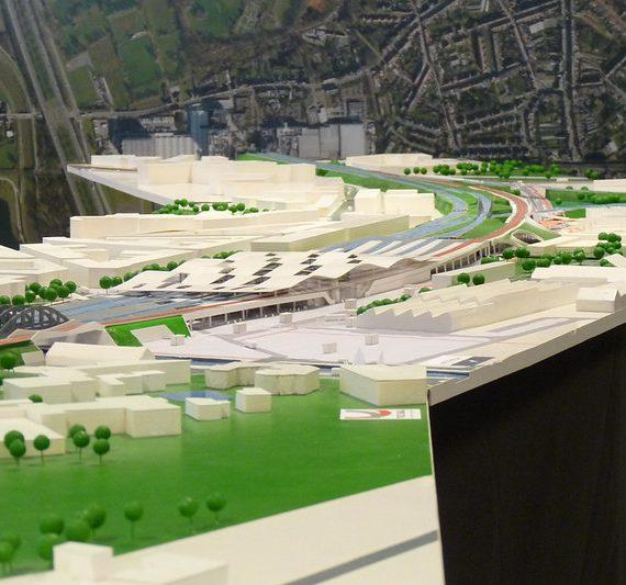 Flickr-album: Nieuwe maquette van het project, gemaakt door TUC-Rail