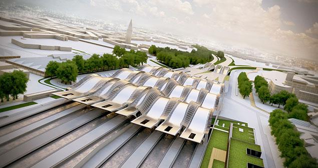 Toekomstbeelden: de luifels van het nieuwe station